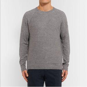 J.CREW Mélange Cotton-Jersey Sweater Gray Large